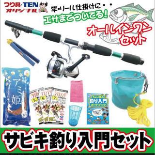 つり具TEN コンパクトサビキ釣り入門 完全釣りセット(釣り糸/ライン)