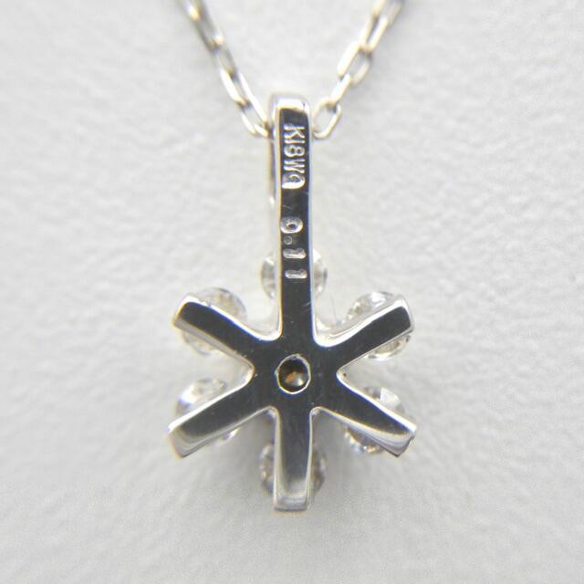 ★フラワーモチーフ❣️ ダイヤモンド K18WG ホワイトゴールド ネックレス  レディースのアクセサリー(ネックレス)の商品写真