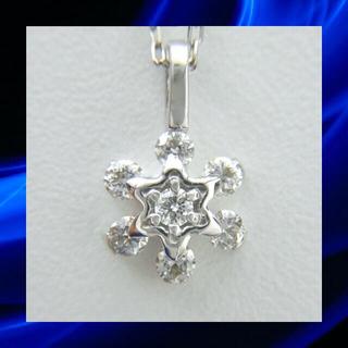 ★フラワーモチーフ❣️ ダイヤモンド K18WG ホワイトゴールド ネックレス (ネックレス)