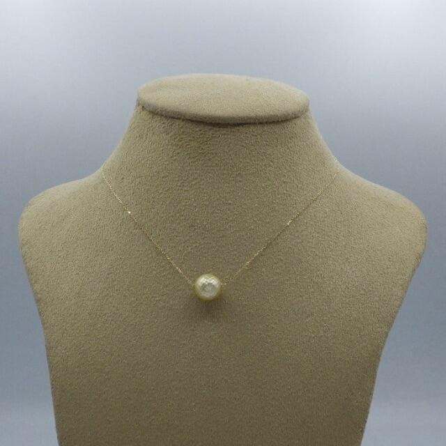 1粒  パール 真珠  k18yg イエローゴールド ネックレス ペンダント レディースのアクセサリー(ネックレス)の商品写真