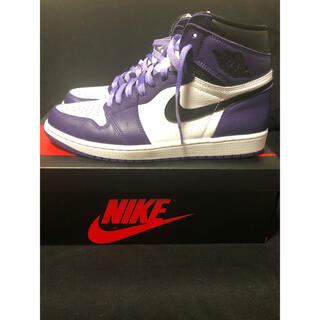 NIKE - Nike jordan 1  court purple 美品