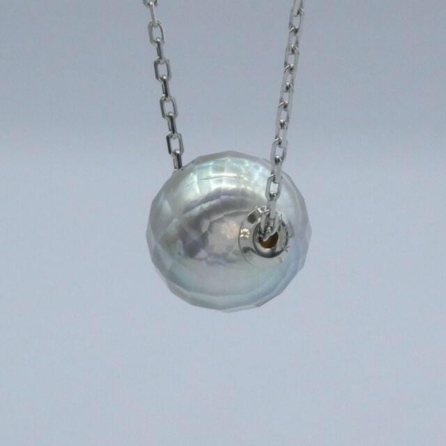 1粒  パール 真珠  k18wg ホワイトゴールド ネックレス ペンダント レディースのアクセサリー(ネックレス)の商品写真