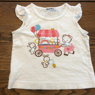 familiar - ファミリア フレア Tシャツ 80