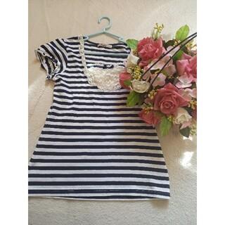トゥララ(TRALALA)のTRALALA♡ボーダーTシャツ♡M(Tシャツ(半袖/袖なし))