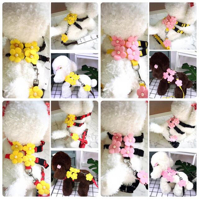 ハーネス リード 首輪 犬 猫 ペット お花いっぱいハーネス:S.M.L その他のペット用品(犬)の商品写真