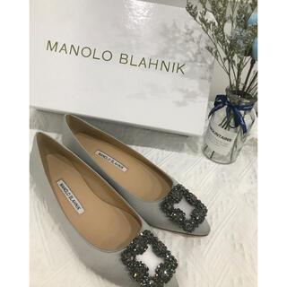 MANOLO BLAHNIK - 25センチ シルバーMANOLO BLAHNIK HANGISI ローヒール