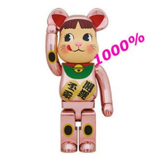 MEDICOM TOY - BE@RBRICK 招き猫 ペコちゃん 桃金メッキ 1000%