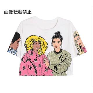ZARA - 🌼春新作💐4029◆デザイン プリント 半袖 Tシャツ