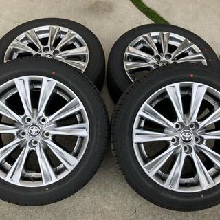 トヨタ(トヨタ)の新車外し 30系アルファードタイプゴールド純正18インチアルミ&タイヤ4本セット(タイヤ・ホイールセット)