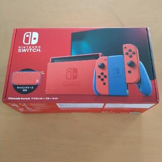 ニンテンドースイッチ(Nintendo Switch)の任天堂スイッチマリオレッド×ブルー中古品(家庭用ゲーム機本体)