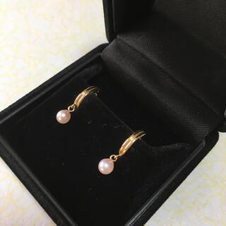 ピアス ベビーパール k18   アコヤ真珠