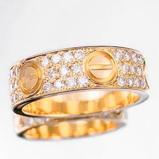 Cartier - 【仕上済】カルティエ ラブリング 9号 YG 49 ダイヤ 指輪 リング