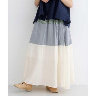 メルロー(merlot)のmerlot 切り替えギャザースカート(ロングスカート)