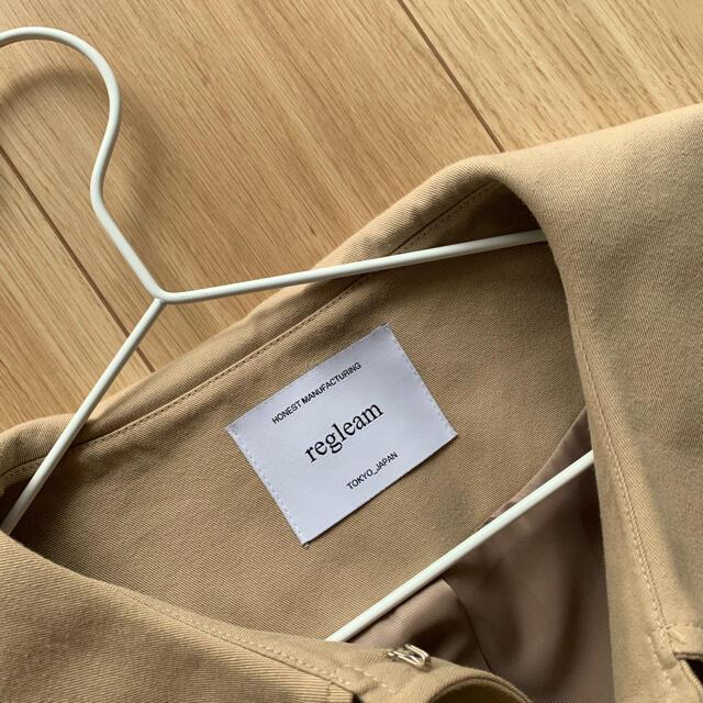 DEUXIEME CLASSE(ドゥーズィエムクラス)のregleam リグリーム ビッグカラー ツイルコート レディースのジャケット/アウター(トレンチコート)の商品写真