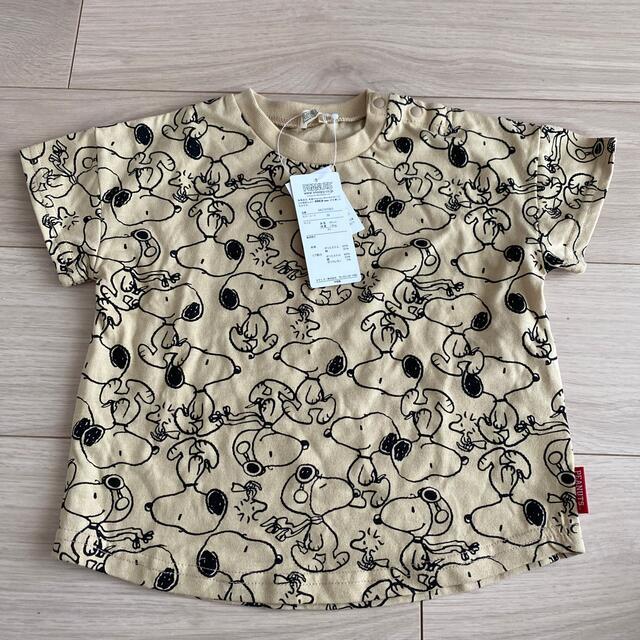 SNOOPY(スヌーピー)のSNOOPY 総柄 半袖Tシャツ 95cm キッズ/ベビー/マタニティのキッズ服男の子用(90cm~)(Tシャツ/カットソー)の商品写真