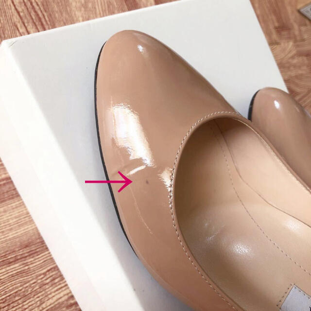 DIANA(ダイアナ)の未使用品☆DIANA エナメルパンプス 23.5cm ピンクベージュ ダイアナ レディースの靴/シューズ(ハイヒール/パンプス)の商品写真