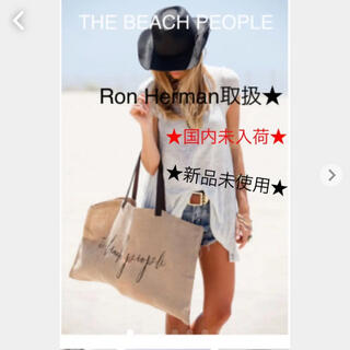 Ron Herman - Ron Herman取扱★ THE BEACH PEOPLE ジュート バック
