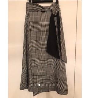ADORE - アドーア ADORE スカート 38 グレンチェック ロング