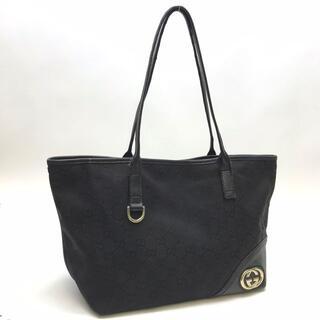 グッチ(Gucci)のグッチ 169946 ニューブリット トートバッグ GGキャンバス ブラック(トートバッグ)