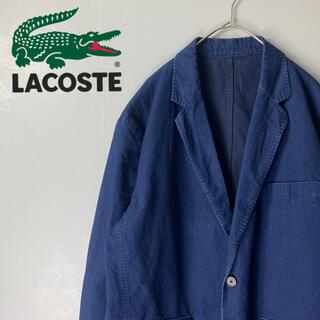 ラコステ(LACOSTE)の【海外古着 ラコステ LACOSTE テーラードジャケット ネイビー 薄手】(テーラードジャケット)