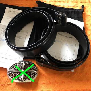 Chrome Hearts - クロムハーツ  レザーベルト ブラック2本セット
