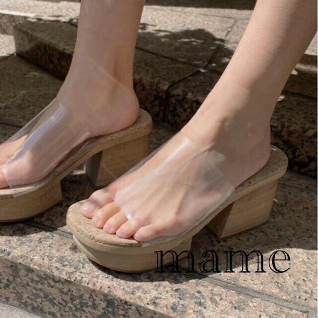 Ameri VINTAGE(アメリヴィンテージ)のAMERI vintage MEDI CLEAR GETA WOODSANDAL レディースの靴/シューズ(サンダル)の商品写真