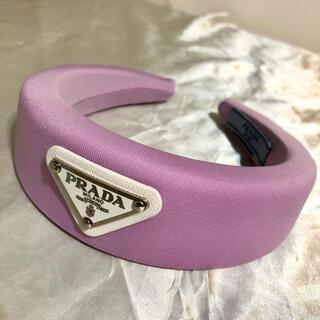 PRADA - prada プラダ カチューシャ パープル 紫 パステルカラー ロゴ
