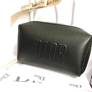 Dior - ディオール ノベルティ ポーチ ブラック ゴールドDチャーム