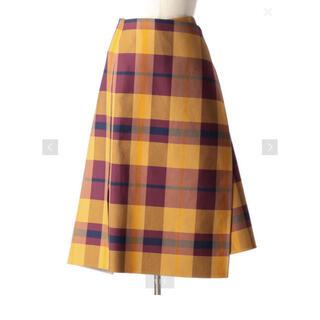 Drawer - Drawer チェックダブルフェイスラップスカート