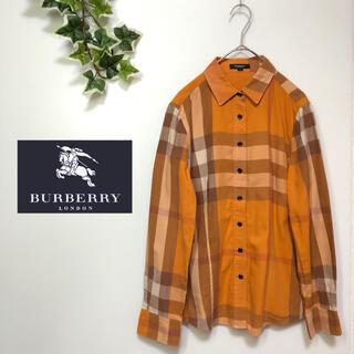 BURBERRY - 【BURBERRY LONDON】シャツ メガチェック バーバリーチェック