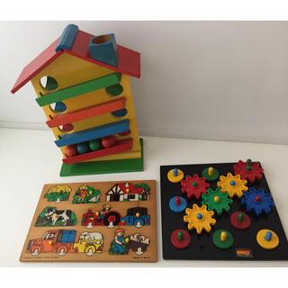 ボーネルンド(BorneLund)の知育玩具 アンティーク まとめ売り ベビー おもちゃ ボーネルンド 英語 教材(積み木/ブロック)