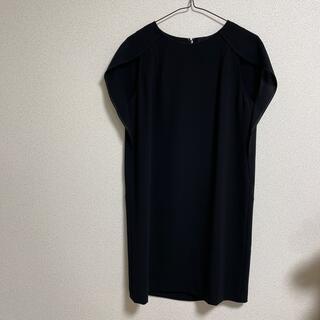 スピックアンドスパンノーブル(Spick and Span Noble)のNoble 黒ワンピース ドレス(ひざ丈ワンピース)
