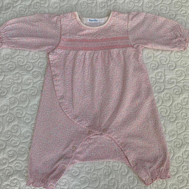 familiar(ファミリア)の✨familiarロンパース60✨ キッズ/ベビー/マタニティのベビー服(~85cm)(ロンパース)の商品写真