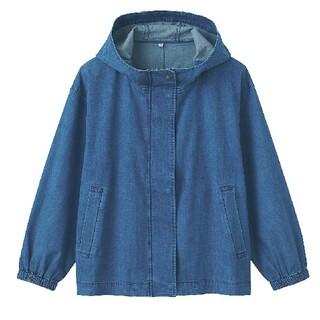MUJI (無印良品) - ★新品★ 無印良品 フードジャケット/インディゴブルー/XS~S