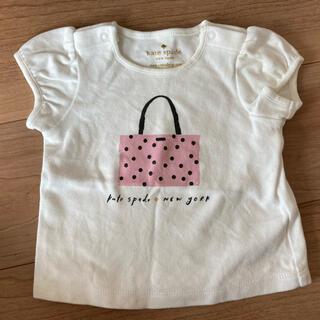 ケイトスペードニューヨーク(kate spade new york)の【ケイトスペード】値下げ中!女の子 80 Tシャツ 白 美品(Tシャツ)