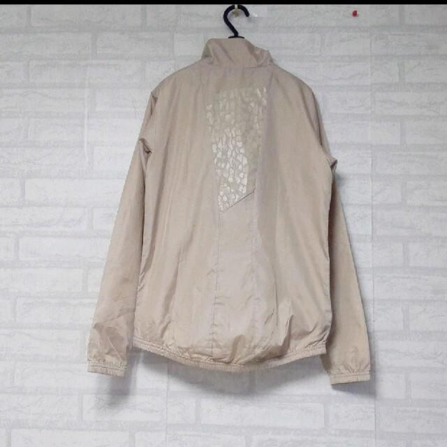 adidas(アディダス)のadidas  裏地 メッシュ 背面ヒョウ柄 ロゴ刺繍 トラックジャケット レディースのジャケット/アウター(ナイロンジャケット)の商品写真
