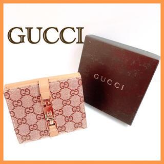 Gucci - グッチ GUCCI 二つ折り財布 ジャッキー GG キャンバス 箱付き