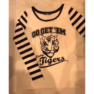 ピーチジョン(PEACH JOHN)のPJ・マイハニービー・タイガースロングスリーブ・新品・サイズS(Tシャツ(長袖/七分))