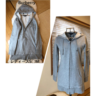 BURBERRY - 美品本物バーバリーBurberry上質コットン混ロングパーカー♫