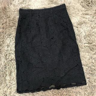 プロポーション(PROPORTION)のproportion 総柄レースタイトスカート(ひざ丈スカート)