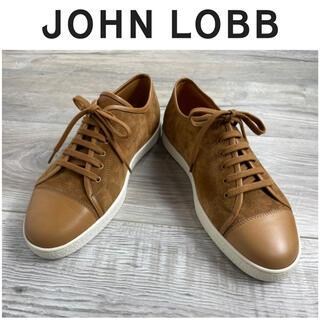 JOHN LOBB - B3★未使用 ジョンロブ スエード スニーカー キャメル ホワイト 7