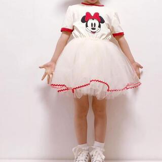 Disney - ミニーちゃんチュールワンピース