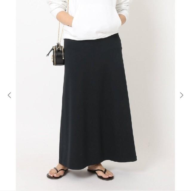 DEUXIEME CLASSE(ドゥーズィエムクラス)のDeuxieme Classe Jersey フレアスカート ブラック レディースのスカート(ロングスカート)の商品写真