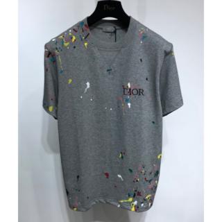 Dior -  DIOR ★刺繍  グレー  Tシャツ M