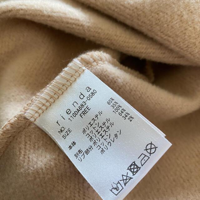 rienda(リエンダ)のrienda オーガンジーメッセージスウェットワンピース ピンク リエンダ レディースのワンピース(ミニワンピース)の商品写真