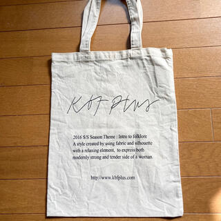 ケービーエフプラス(KBF+)の美品 kbf+ トートバック エコバック 買い物バック キャンバス(トートバッグ)