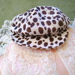 セシルマクビー(CECIL McBEE)のダルメシアン柄 ベレー帽 キャスケット(キャスケット)