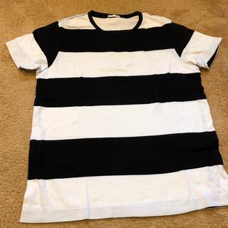 ジーユー(GU)のGU ボーダーTシャツ メンズ M (Tシャツ/カットソー(半袖/袖なし))