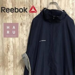 リーボック(Reebok)のリーボック フルジップロングナイロンジャケット 薄手 ビックサイズ(ナイロンジャケット)