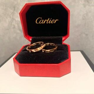 Cartier カルティエ リング ピンクゴールド  ダイヤモンド付き